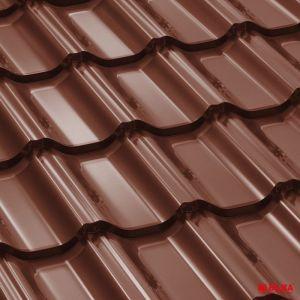 Tigla metalica Bilka Goticral 8017 maro ciocolatiu