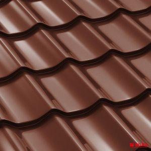tigla metalica bilka clasic ral 8017 maro ciocolatiu