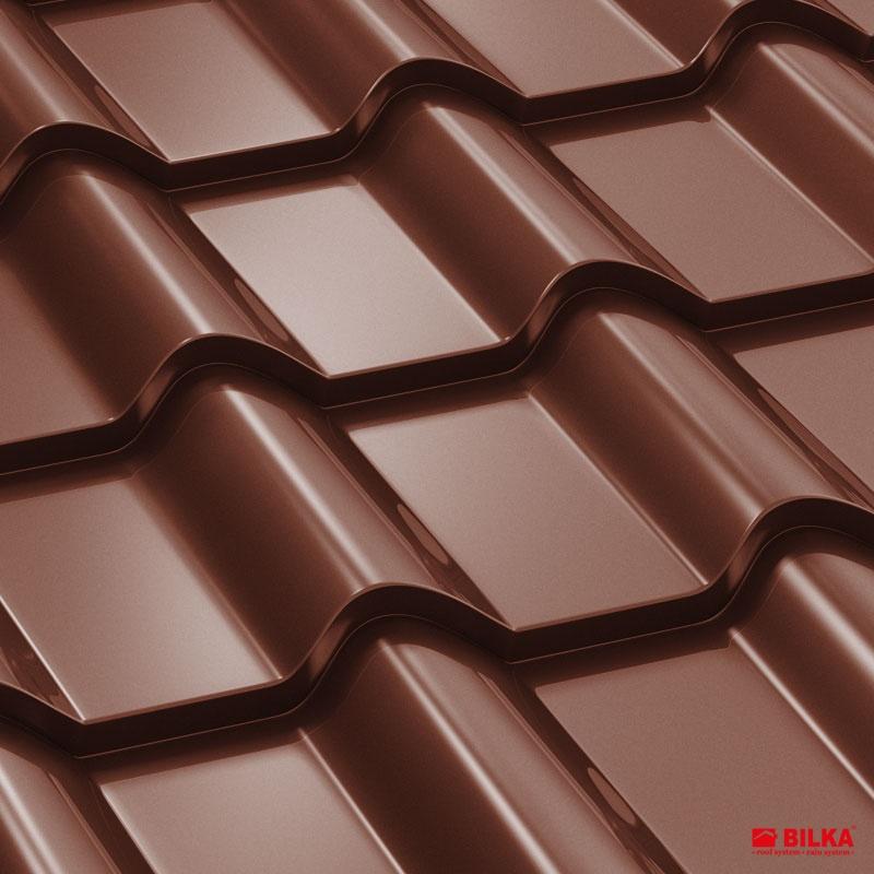 tigla metalica bilka balcanic RAL 8017 maro ciocolatiu
