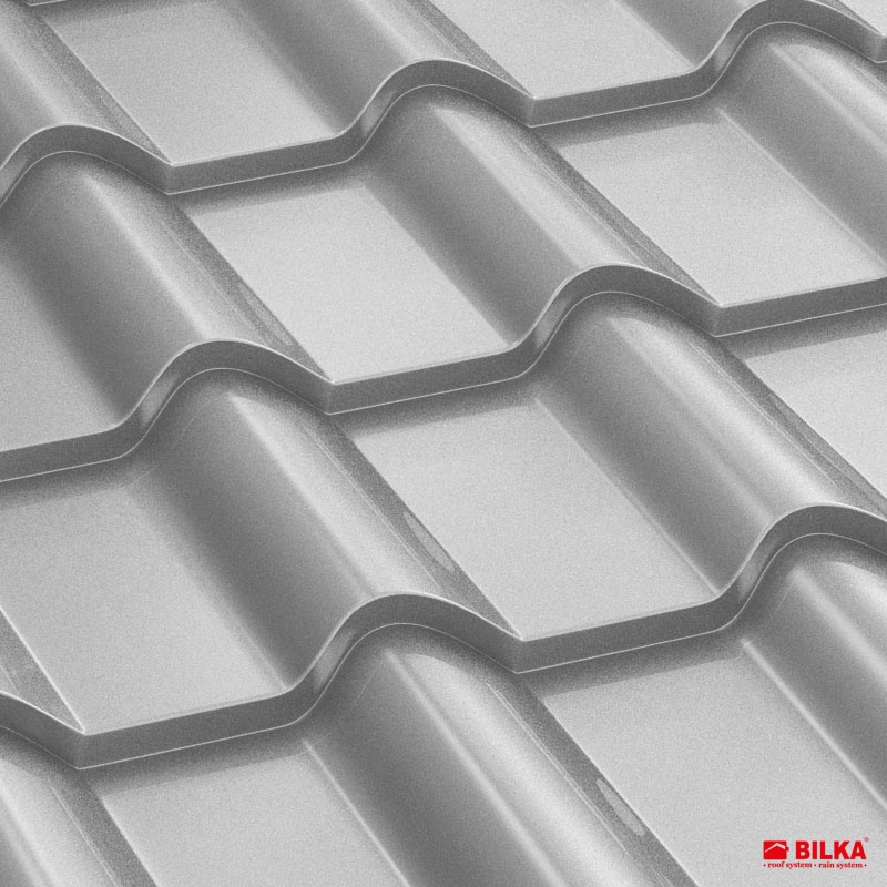 tigla metalica bilka balcanic RAL 9006 argintiu