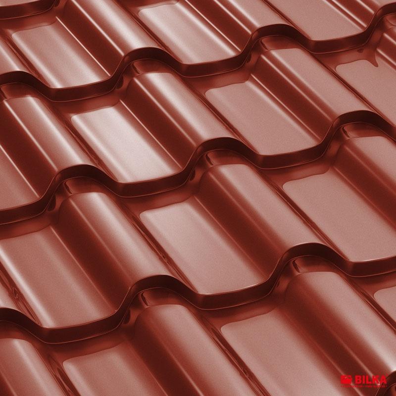 tigla metalica bilka romanic ral 3009 rosu maroniu