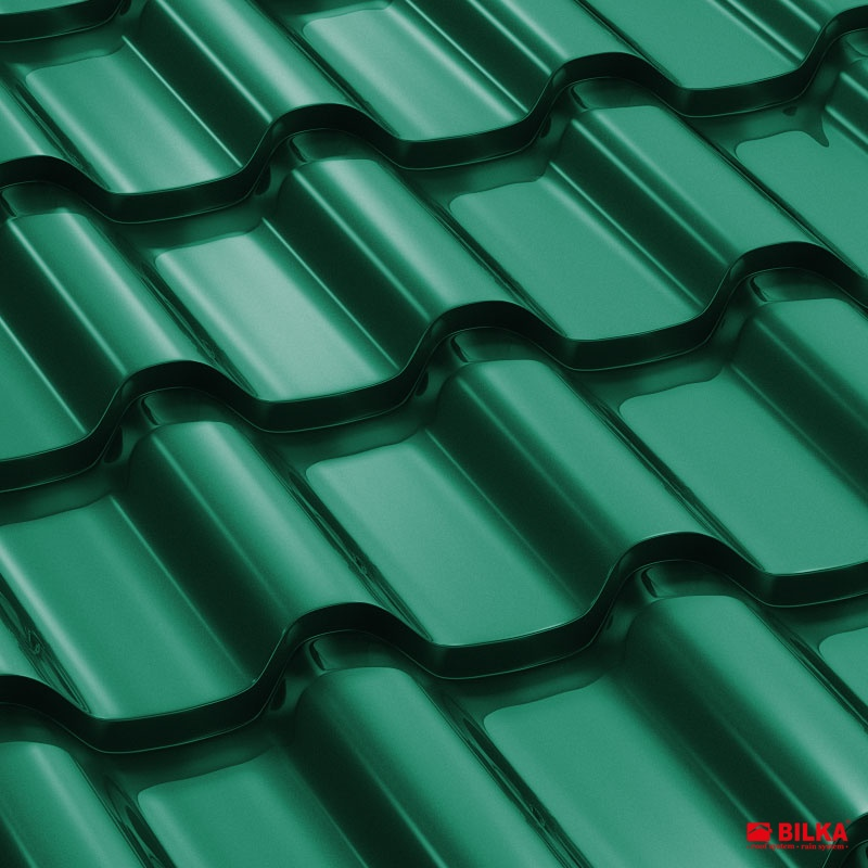 tigla metalica bilka romanic ral 6005 verde